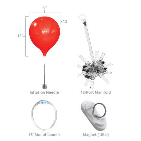 PermaShine 12 Balloon Cluster Ceiling Kit Specs