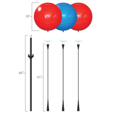 Dura Triple Cluster Pole Kit Specs 2